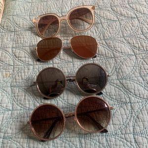 Lot of 4 Retro Sunglasses